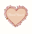 Hand drawn doodle heart text frame vector