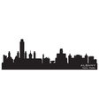 Albany new york skyline detailed silhouette vector