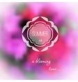 Summer pink flowers blurred background vector
