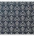 Seamless wallpaper background floral vintage black vector