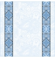 Blue colour lace border stripe in ornate floral vector