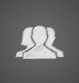 Team sketch logo doodle icon vector