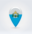 Sanmarino icon point for map vector