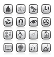 Research and education icons vector