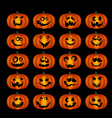 Pumpkin faces vector