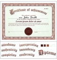 Brown certificate template horizontal additional vector