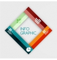 Colorful ribbon infographic - option banners vector