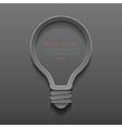 Idea light bulb icon banner template vector