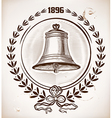 Old bell card vector