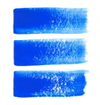 Blue ink brush strokes vector