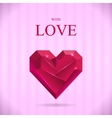 Abstract valentine heart gem vector