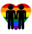 Gay couple symbol vector