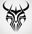 Demon mask tribal vector