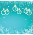 Winter holiday of christmas balls vector