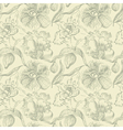 Seamless floral pattern with orchid vector