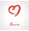Beautiful greeting vintage valentines card with vector