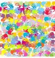 Abstract colored hands background vector