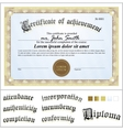 Gold certificate template horizontal additional vector