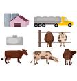 Milk farm vector