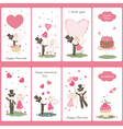 Set of valentines day flayers vector
