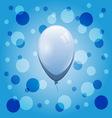 Blue balloon on bokeh background vector