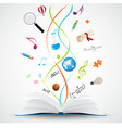 Open book with science icon vector