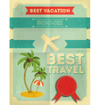 Travel poster vector
