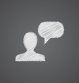 Conversation sketch logo doodle icon vector
