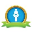 Gold pregnancy logo vector