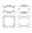 Set of floral decorative frames vector