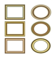 Gold bronze frame set pattern vector