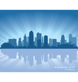 Kansas city missouri skyline vector