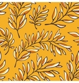 Floral seamless pattern with outline branches vector