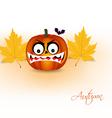 Pumpkin and autumn background vector