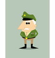 Cartoon military general vector