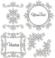 Vintage frames and ornaments vector