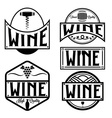 Vintage labels and design elements of wine vector