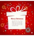 Christmas background with gift box and cute icons vector
