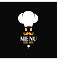Menu chef egg design background vector