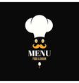 Menu chef egg design background vector