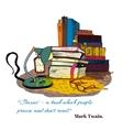 Books reading still life vector