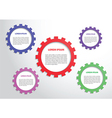 Color gears infographics background vector