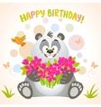 Panda happy birthday vector