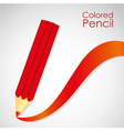 Red pencil with stripe red isolated on white backg vector