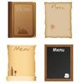 Restaurant and cafe menu design vector