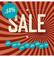 Sale poster with diferent discount labels vector