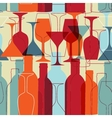 Restaurant or wine bar menu design seamless vector