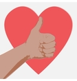 Hand with heart abstract vector