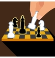 Business strategy with chess figures of chess vector