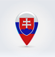 Slovakian icon point for map vector